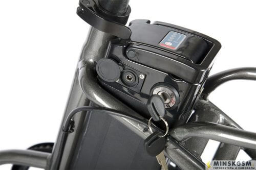 Велогибрид Eltreco WAVE UP батарейный отсек